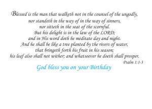 Bible Verses For Birthday Greetings