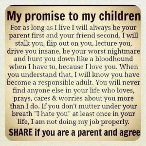 being a parent....