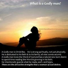 Qualities of a Godly man....