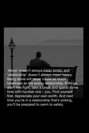 ... relationship & never