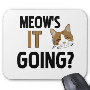 Funny Cat Quotes Mouse Pads