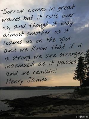 Henry James sorrow quote