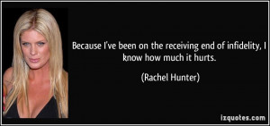 More Rachel Hunter Quotes