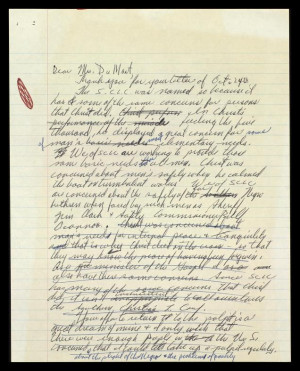 Draft Letter From Mlk...