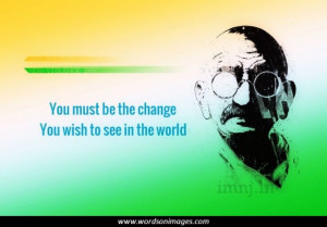 Famous quotes by gandhi