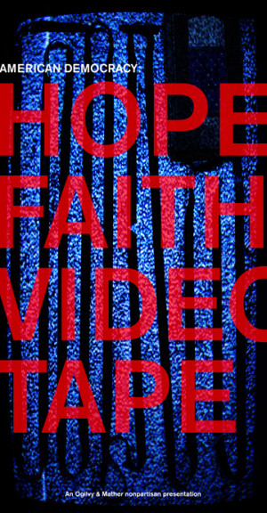 , Faith & Videotape Instalation // presidential campaign ads + quotes ...