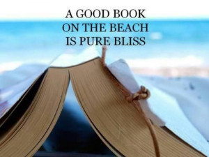 good book on the beach is pure bliss