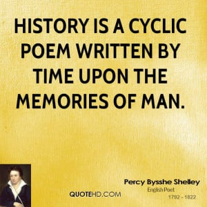 Percy Bysshe Shelley History Quotes