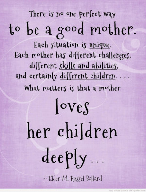 loves her children deeply faith quote | ImgQuotes