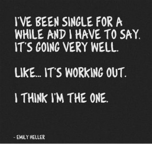 our top 20 funny quotes sayings about being single