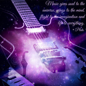 Guitar Wall Decor - Plato Quote - Galaxy Wall Art - Famous Quotes ...
