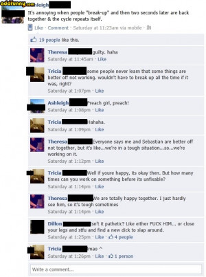 Facebook Wall Chat . Relationships random