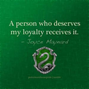 quotes person green silver hogwarts slytherin snake loyalty Maynard ...