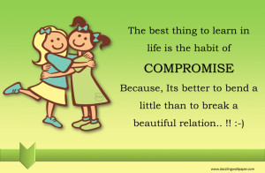 ... Quotes Collection: Nice Pictures With Quotes About Compromise In Green