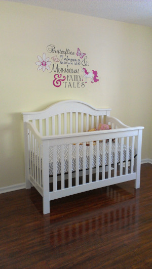 ... and Zebras and Moonbeams and Fairy Tales – Baby Girl Nursery Mural