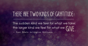 ... kind we feel for what we give.― Poet Edwin Arlington Robinson #quote