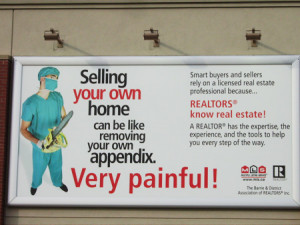 Maybe you need a medical license to sell property in his neck of the ...