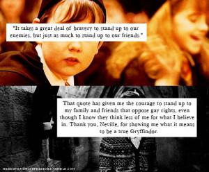gryffindor #hogwartshouses #NevilleLongbottom #goodexample