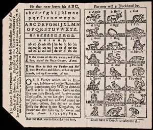 An eighteenth-century English primer for abecedarians memorizing their ...