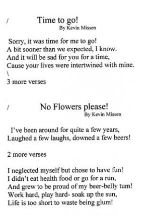 Funeral poem book examples