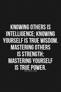 Knowing others is intelligence;