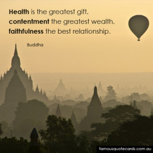Quotecard Contentment the greatest wealth