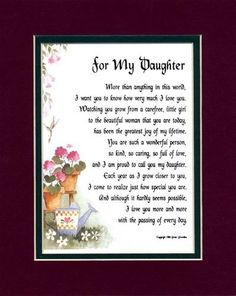 more birthday poems for daughters birthday quotes my daughters poems ...