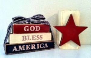 Free Wood Craft Idea - Patriotic Quote Blocks