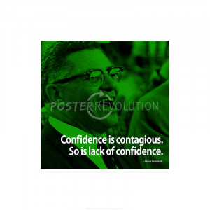 Vince Lombardi Confidence iNspire 2 Quote Poster - 13x19