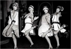 The dropped-waist look soon made its way onto the flapper dress. The ...
