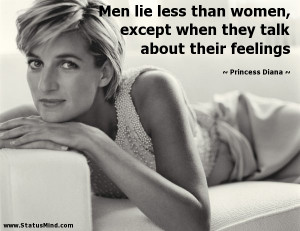 Men lie less than women, except when they talk about their feelings ...