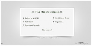 Five Steps to Success – Islamic Wallpapers