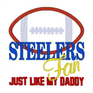 Sayings (3622) ...Steelers Fan Applique 4x4
