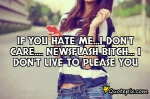 If you hate me...i don