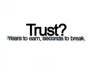 Trust 1 word of the week