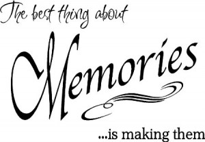 Amazon.com - Quote It! - The Best Thing Memories Wall Quote ...