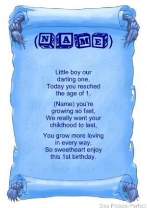 Personalised Poem Baby Boy