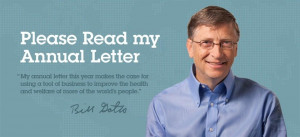To read this year's Annual Letter, visit BillsLetter.org