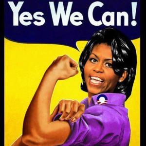 Michelle Obama the riveter