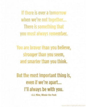 winnie the pooh quote - Mother's Day
