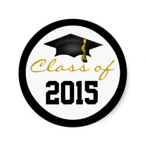 class_of_2015_graduation_cap_round_stickers ...