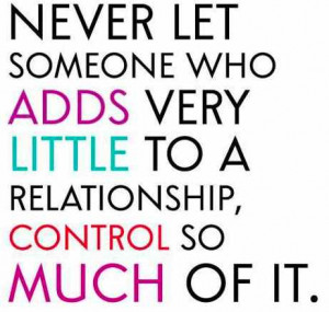Relationships Control Quotes
