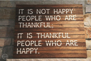 Be Thankful…Be Happy