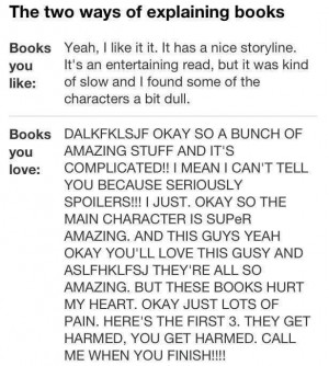 The two ways of explaining books
