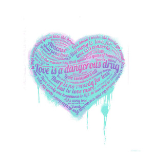 Drug Quotes And Sayings Love is a drug mixed media