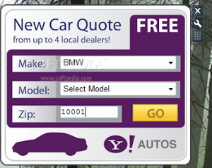 Yahoo! Auto Quotes screenshot 1 - The main window of Yahoo! Auto ...