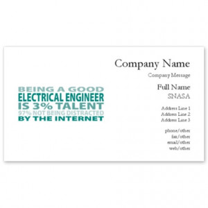 Good Electrical Engineer Business Cards
