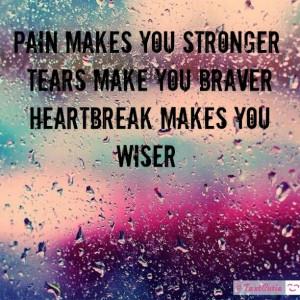 Pain tears and heartbreak