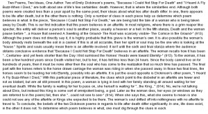 essay on Comparison of Two Poems by Emily Dickinson About Death
