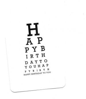 Happy Birthday Eye Chart Card